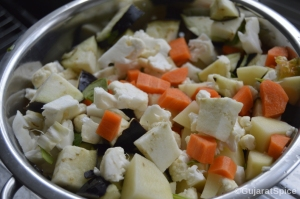Chopped mixed veggies