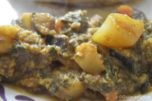 Veg Spinach Shak (Veg Spinach Curry)