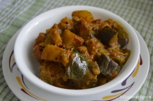 Ringan Bateta Nu Shak (Aubergine and Potato Curry)
