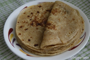 Phulka Rotli (Whole Wheat Chapattis)