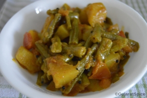 Posho Bateta Nu Shak (Green Beans and Potato Curry)