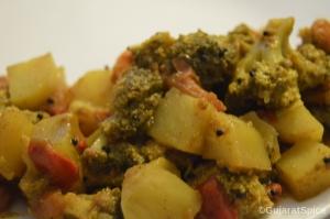 Lilu Fulawar Nu Shak (Broccoli Curry)