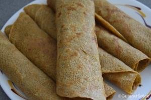 Pudla (Spiced Besan Flour Pancakes)