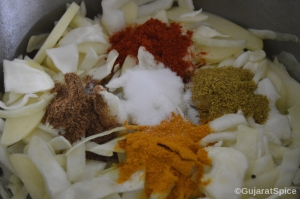 Dry spices and salt added